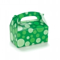 Green with Green Dots Empty Favor Boxes (4)